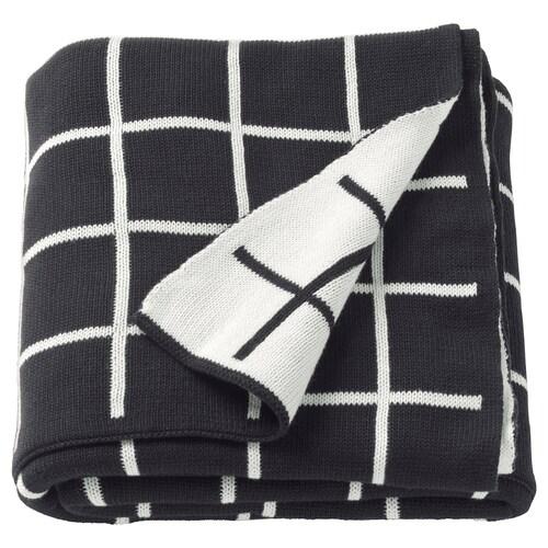 ALMALIE selimut/alas hitam/putih 170 cm 130 cm