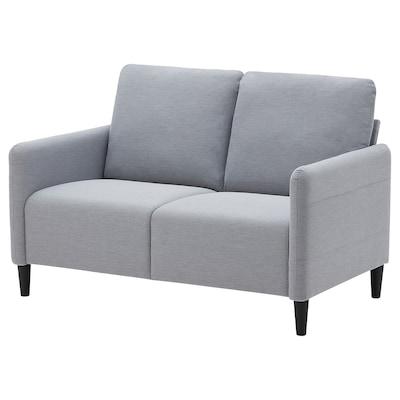 ANGERSBY Sofa 2 tempat duduk, Knisa kelabu muda