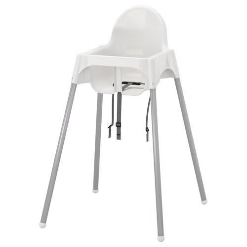 ANTILOP kerusi tgi dgn tali pg keselamatan putih/warna perak 56 cm 59 cm 90 cm 25 cm 22 cm 54 cm 15 kg