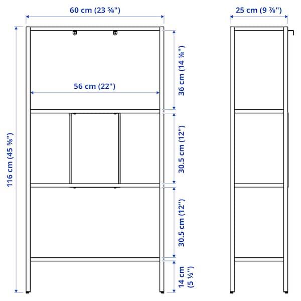 BAGGEBO Unit rak, logam/putih, 60x25x116 cm