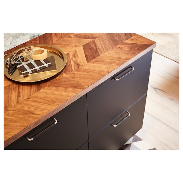 BARKABODA Permukaan kerja, kayu walnut/venir, 246x3.8 cm