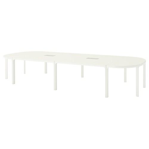 BEKANT meja persidangan putih 420 cm 140 cm 73 cm 100 kg
