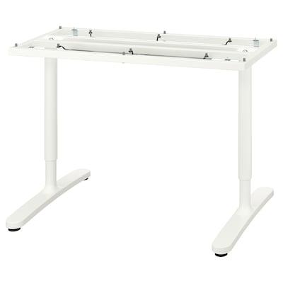 BEKANT Rangka bawah untuk permukaan meja, putih, 120x80 cm