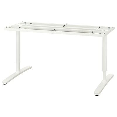 BEKANT Rangka bawah untuk permukaan meja, putih, 160x80 cm