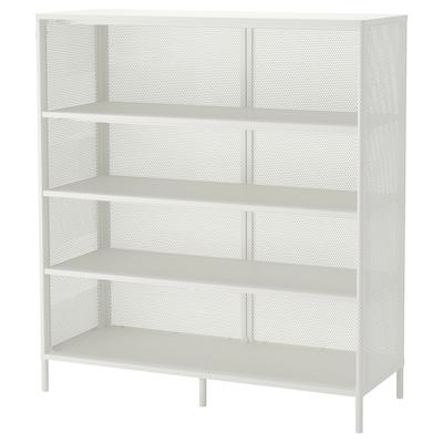 BEKANT Unit rak, putih, 121x134 cm