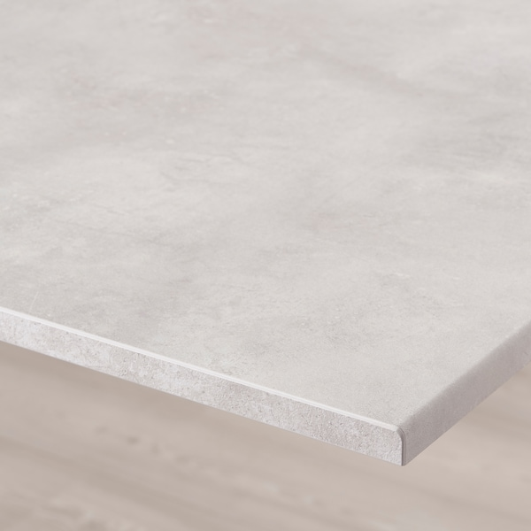 BESTÅ Panel atas, kesan konkrit/kelabu muda, 180x42 cm