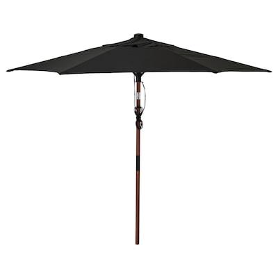 BETSÖ / LINDÖJA Payung, coklat kesan kayu/hitam, 300 cm