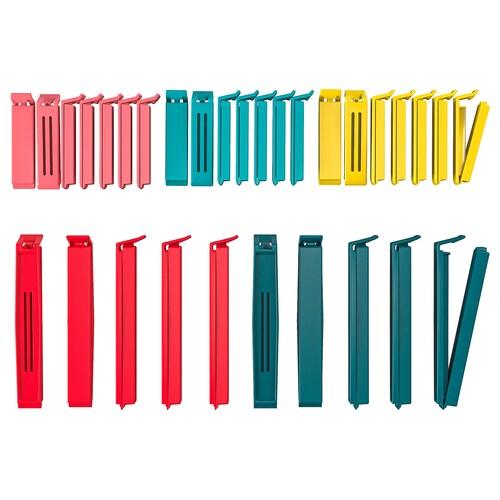BEVARA 30 set klip pengedap warna bercampur/saiz bercampur