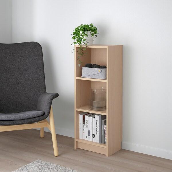 BILLY rak buku Venir kayu oak berwarna putih 40 cm 28 cm 106 cm 14 kg