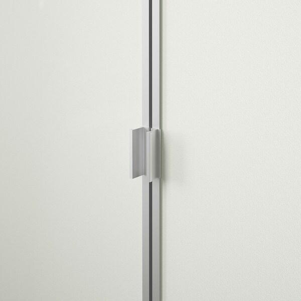 BILLY / MORLIDEN Rak buku berpintu kaca, putih/kaca, 80x30x106 cm