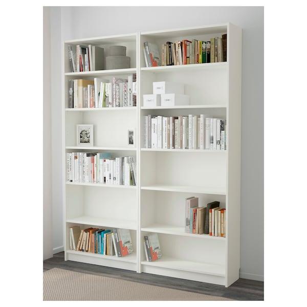 BILLY Rak buku, putih, 160x28x202 cm