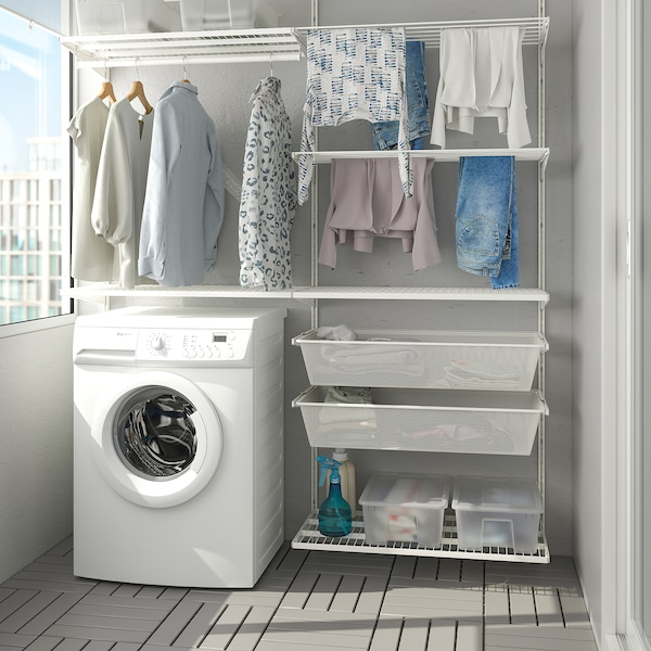 BOAXEL Kombinasi dobi, putih, 165x40x201 cm