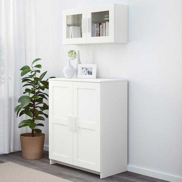 BRIMNES Kabinet berpintu, putih, 78x95 cm
