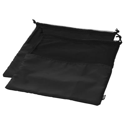 BRODERLIG Beg kasut, hitam, 32x40 cm