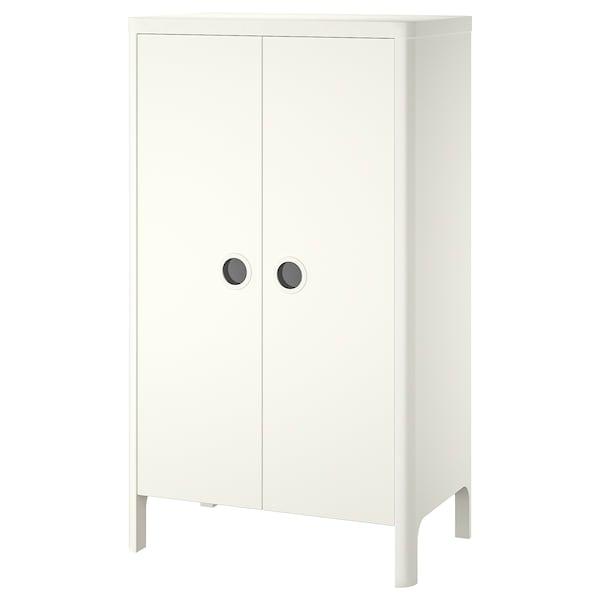 BUSUNGE Almari pakaian, putih, 80x140 cm