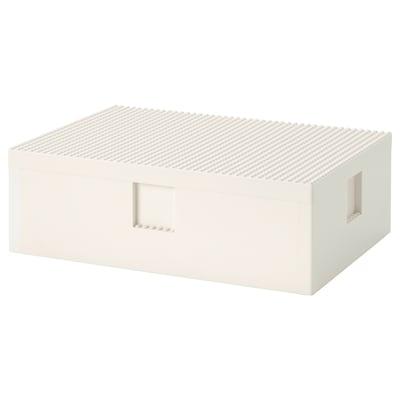 BYGGLEK Kotak LEGO® dengan penutup, 35x26x12 cm