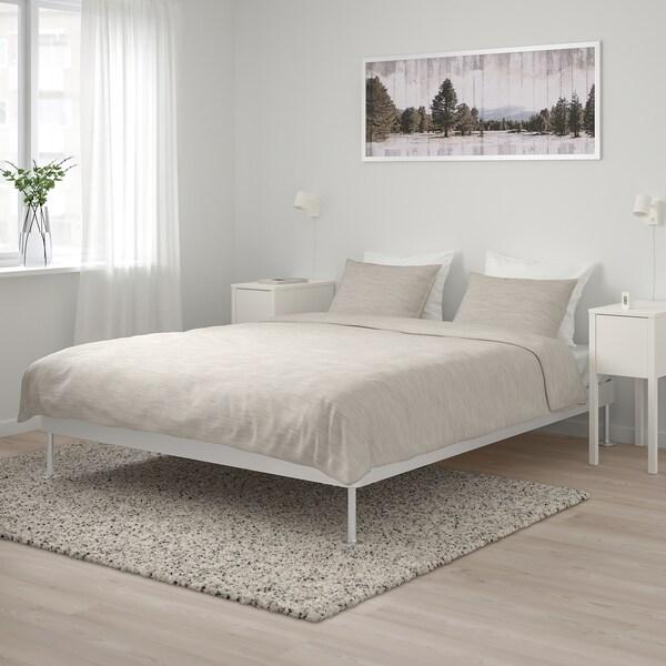 DELAKTIG Rangka katil, aluminium, 150x200 cm