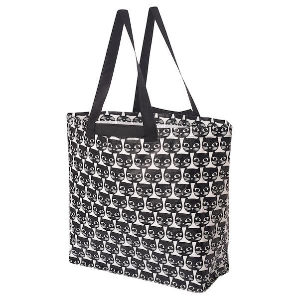 DRICKSA Beg sederhana, putih/hitam, 36 l