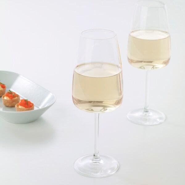 DYRGRIP Gelas wain putih, kaca jernih, 42 cl