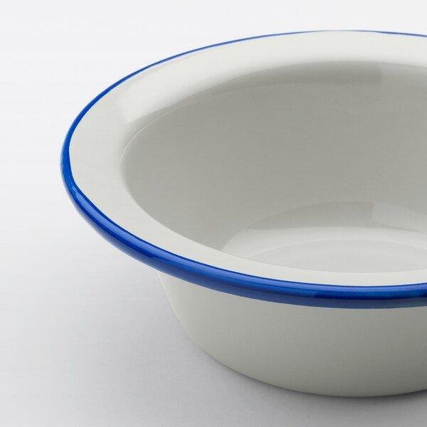 EGENDOM Mangkuk, kelabu muda/biru gelap, 17 cm