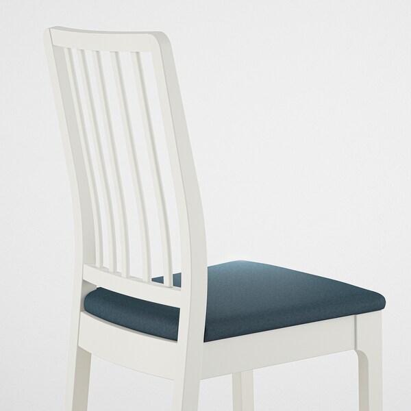 EKEDALEN Kerusi, putih/Idekulla biru