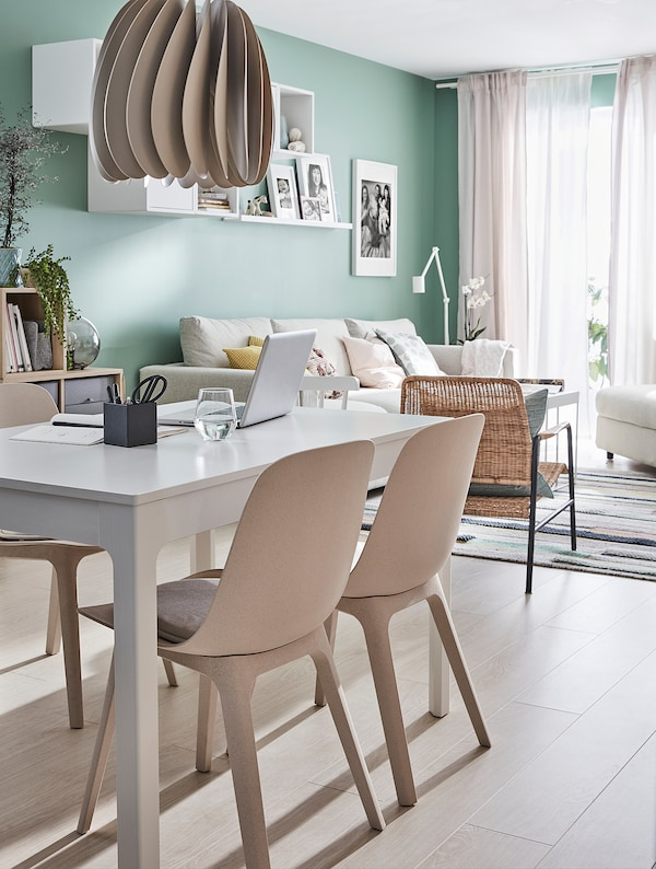 EKEDALEN Meja boleh dipanjangkan, putih, 120/180x80 cm