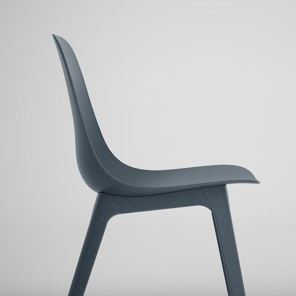 EKEDALEN / ODGER Meja dan 4 kerusi, kayu oak/biru, 120/180 cm