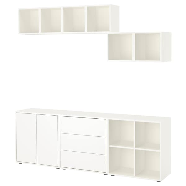 EKET Kombinasi kabinet berkaki, putih, 210x35x180 cm