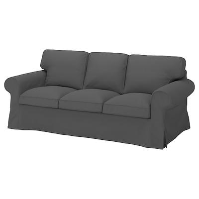 EKTORP Sofa 3 tempat duduk, Hallarp kelabu