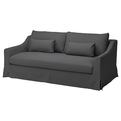 FÄRLÖV Sofa 3 tempat duduk, Flodafors kelabu