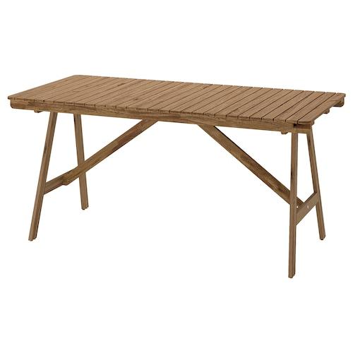 FALHOLMEN meja, luar coklat muda berwarna 153 cm 73 cm 72 cm