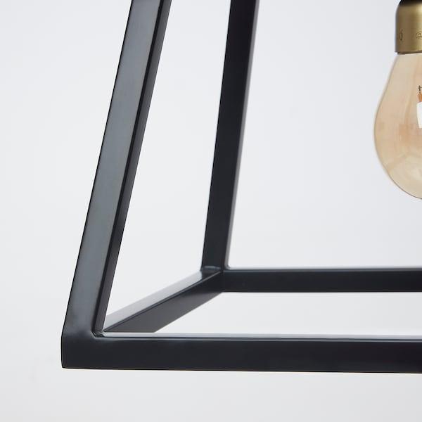 FELSISK Lampu pendan dgn 4 lampu, hitam