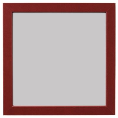 FISKBO Bingkai, merah gelap, 21x21 cm