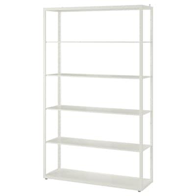 FJÄLKINGE Unit rak, putih, 118x193 cm