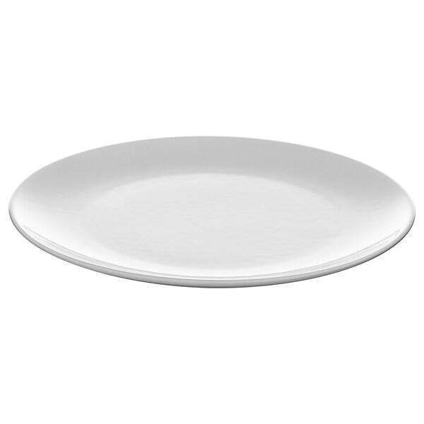 FLITIGHET Pinggan, putih, 26 cm