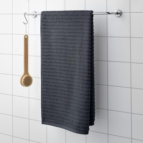 FLODALEN Tuala mandi, kelabu gelap, 70x140 cm