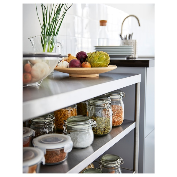 FLYTTA Troli dapur, keluli tahan karat, 98x57 cm