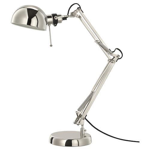 FORSÅ lampu kerja bersadur nikel 40 W 35 cm 15 cm 12 cm 1.8 m