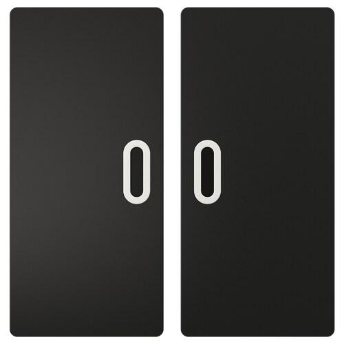 FRITIDS pintu berpermukaan papan hitam antrasit 60.0 cm 64.0 cm 2 unit