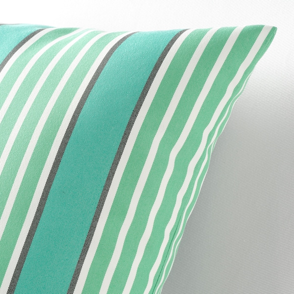 FUNKÖN Sarung kusyen, dalam/luar, firus/hijau, 50x50 cm