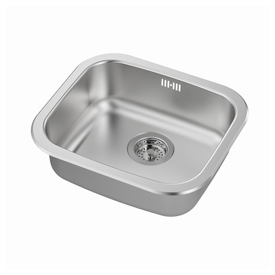 FYNDIG Sink sispan 1 mangkuk, keluli tahan karat, 46x40 cm