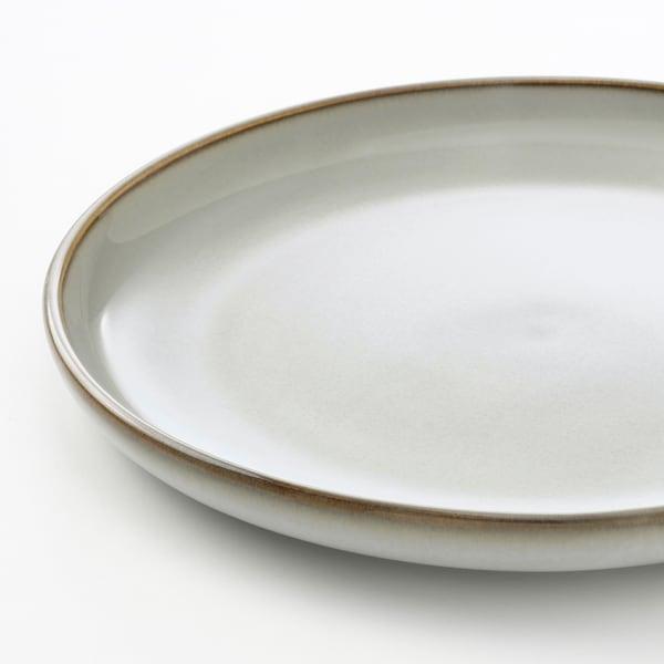 GLADELIG Piring sisi, kelabu, 20 cm