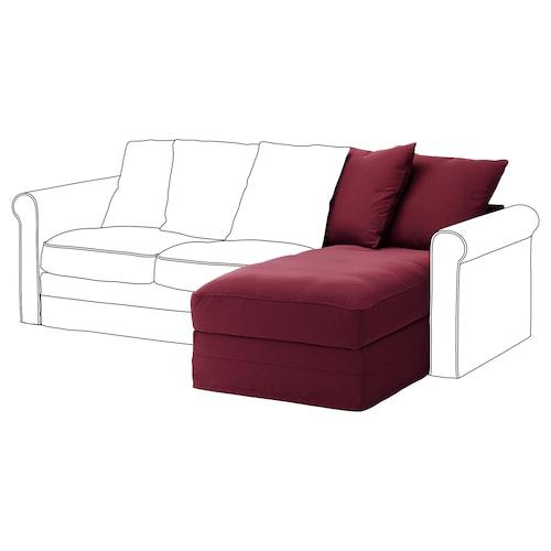GRÖNLID bahagian chaise longue Ljungen merah gelap 104 cm 68 cm 81 cm 164 cm 7 cm 81 cm 126 cm 49 cm 190 l