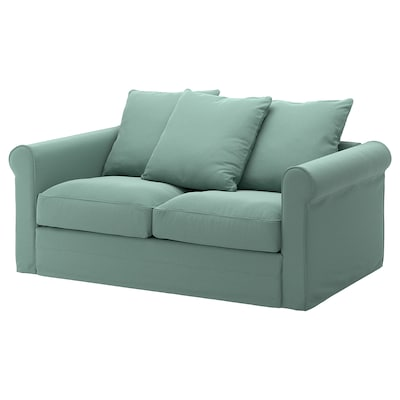 GRÖNLID Sofa 2 tempat duduk, Ljungen hijau muda