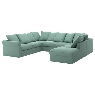 GRÖNLID Sofa bentuk U, 6 tempat duduk