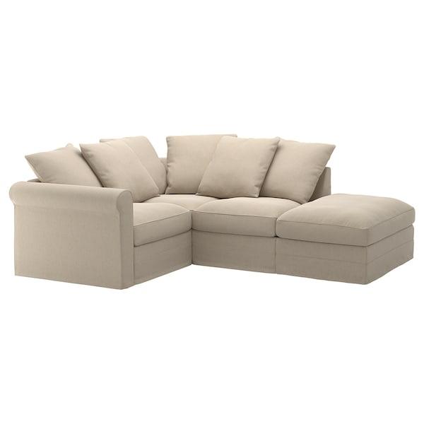 GRÖNLID Sofa penjuru 3 tempat duduk