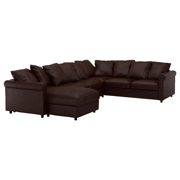 GRÖNLID Sofa penjuru 5 tempat duduk