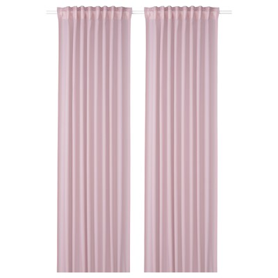 GUNRID Langsir pembersih udara, 1 pasang, merah jambu lembut, 145x250 cm