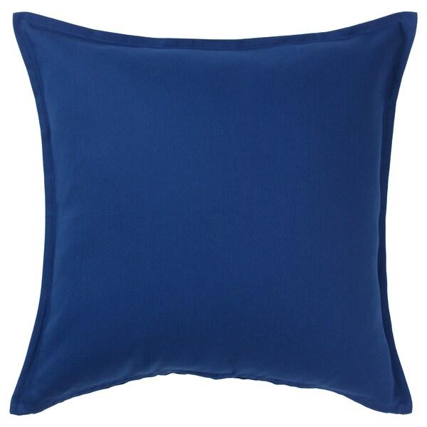GURLI Sarung kusyen, biru gelap, 50x50 cm