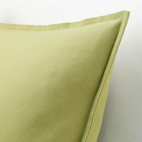 GURLI Sarung kusyen, hijau buah zaitun, 50x50 cm